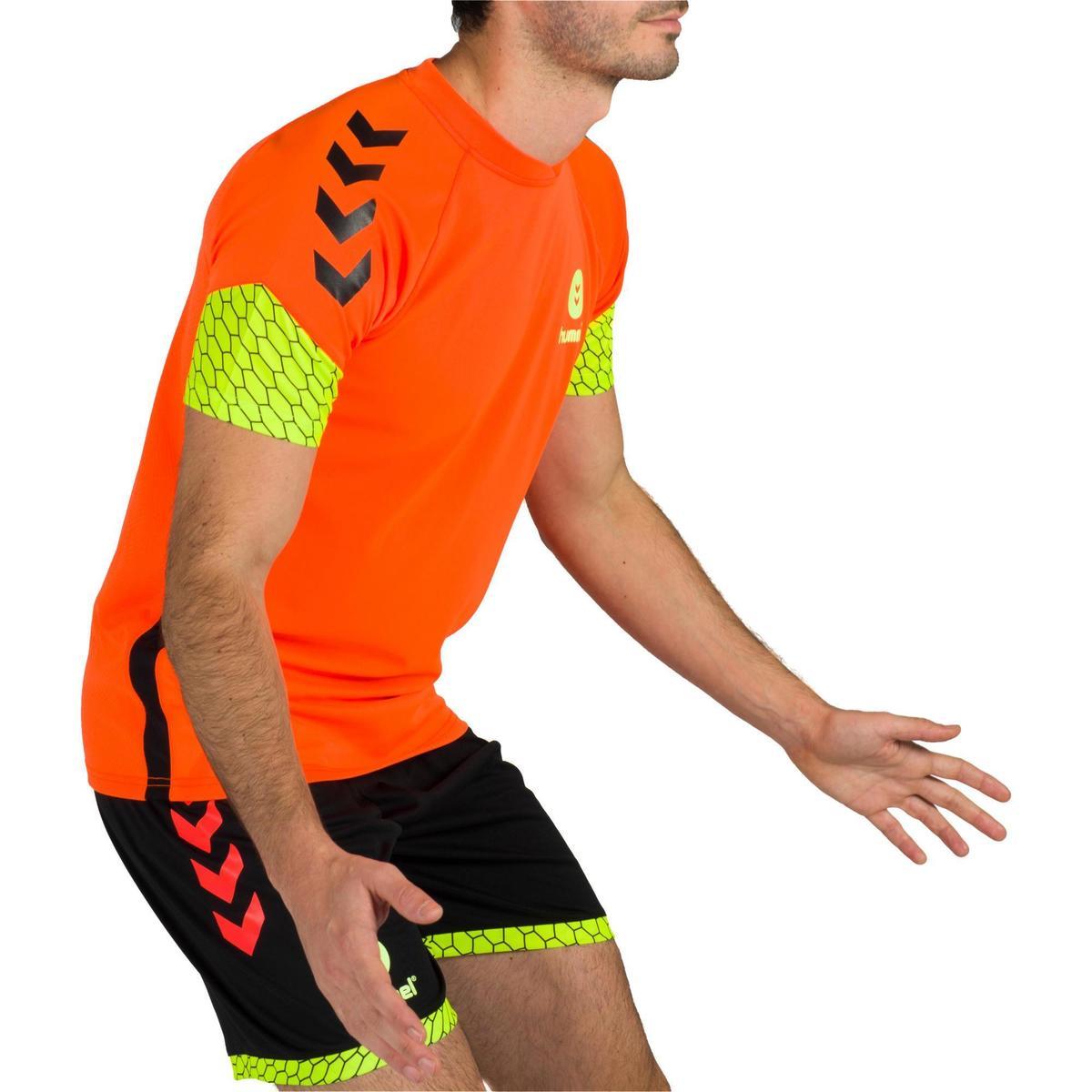 Bild 3 von Handballtrikot Herren orange/gelb