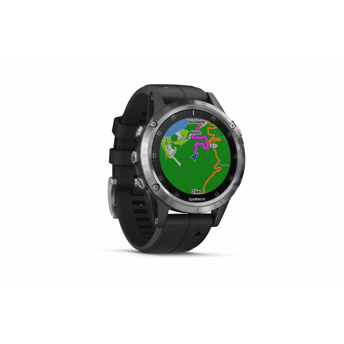 Bild 1 von GPS-Pulsuhr und Musikplayer Cardio Fenix 5 Plus Multisport silber