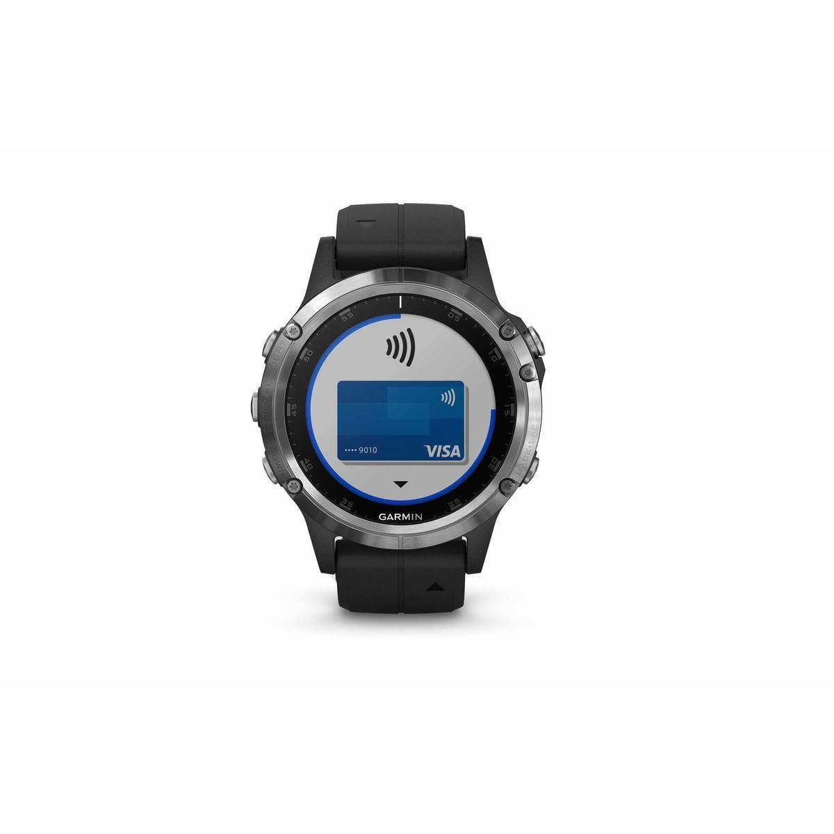 Bild 3 von GPS-Pulsuhr und Musikplayer Cardio Fenix 5 Plus Multisport silber