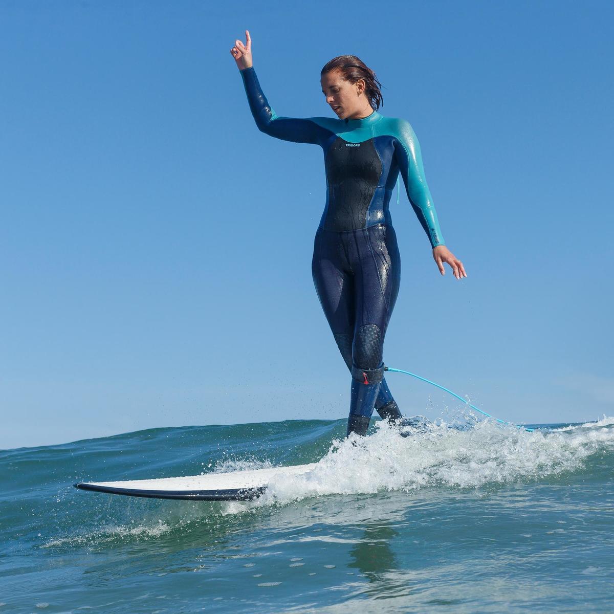 Bild 3 von Neoprenanzug Surfen 900 5/4/3mm Damen grau