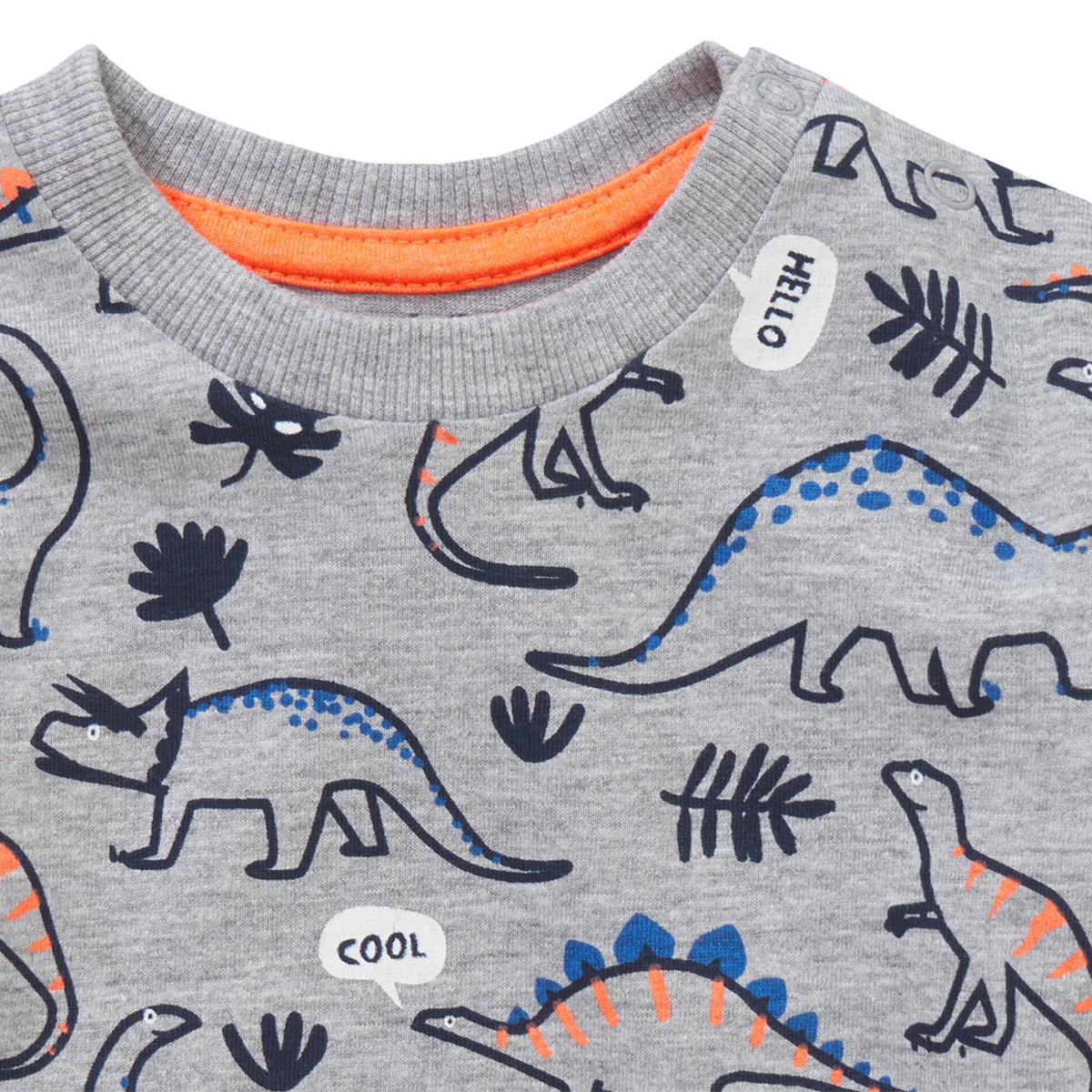 Bild 2 von Baby Langarmshirt mit Dino-Print