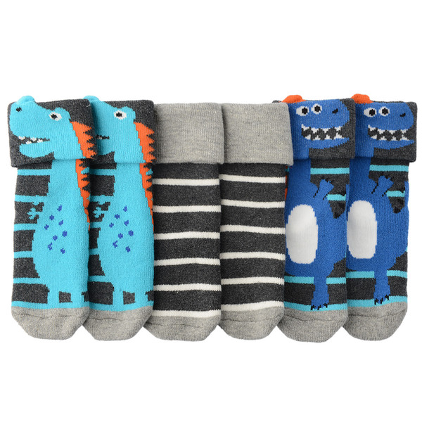 3 Paar Baby Socken mit Dino-Motiv