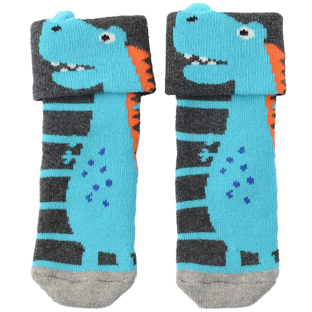 Bild 4 von 3 Paar Baby Socken mit Dino-Motiv