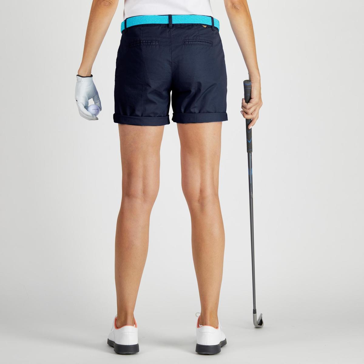 Bild 4 von Golf Bermuda Shorts 500 Damen marineblau