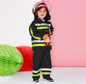 Feuerwehrmann-Kinderkostüm mit Reflektorstreifen