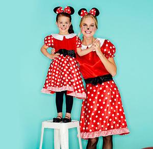 Miss Maus-Kostüm für Erwachsene mit Haarreif