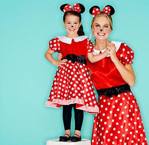 Miss Maus-Kinderkostüm mit Mäuseohren