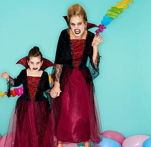 Vampirprinzessin-Kostüm für Erwachsene mit Stehkragen