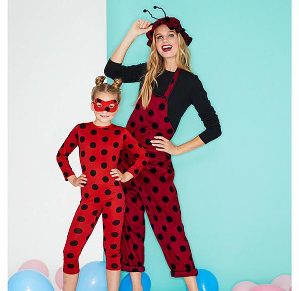 Marienkäfer-Kostüm für Erwachsene mit Latzhose und Hut