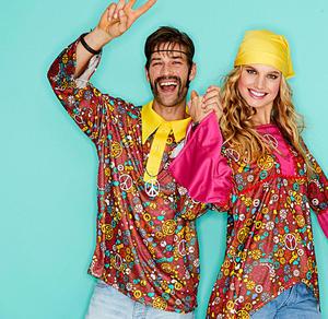 Hippie-Hemd für Erwachsene mit Muster