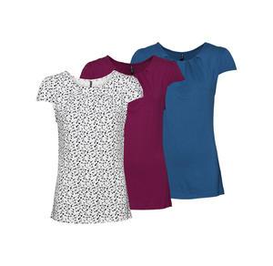 Laura Torelli COLLECTION Damen-T-Shirt mit hübschen Fältchen