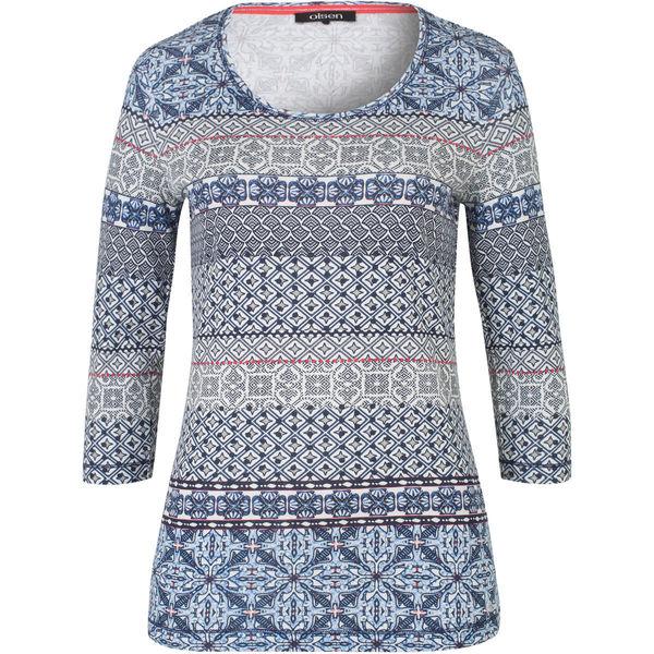 064cb95b7eda42 Olsen Damen Shirt mit Print, 3/4-Arm von Karstadt ansehen ...