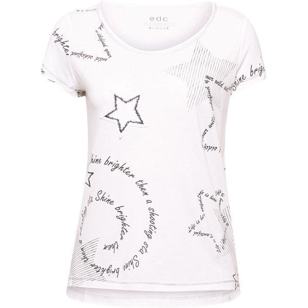 edc by Esprit Damen T Shirt mit Aufnäher