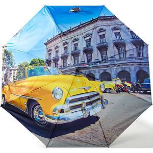 happy rain Mini Taschenschirm Kuba gelb, automatik