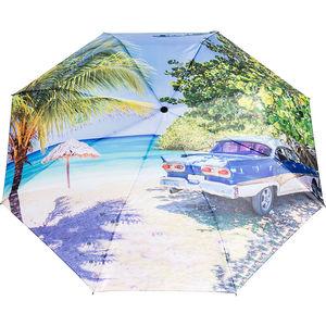 happy rain Mini Taschenschirm Kuba blau, automatik
