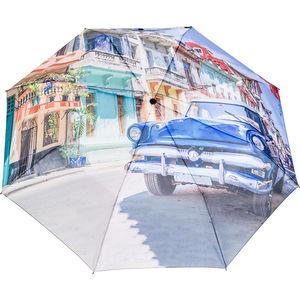happy rain Mini Taschenschirm Kuba bunt, automatik