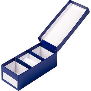 KEA Karteikasten-Set, blau 8,5 x 19 x 7 cm