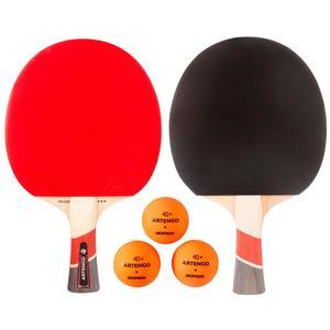 Tischtennis-Set mit 2 Tischtennisschlägern FR 530 und 3 Bällen FB 830+