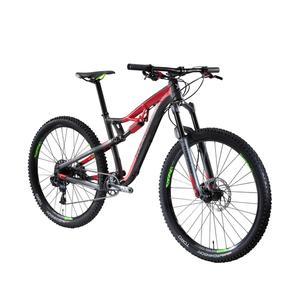 Mountainbike XC 100 S 27,5 schwarz/rot