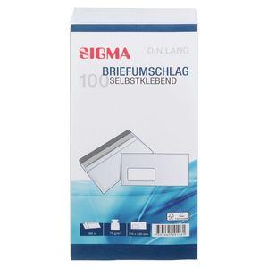 Sigma Briefumschläge DIN Lang - 100 Stück