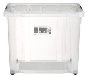 Tarrington House Clear Box mit Rollen und Deckel Transparent