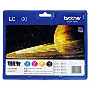 Brother Tintenpatrone LC 1100 Multipack Cyan, Gelb, Magenta, Schwarz