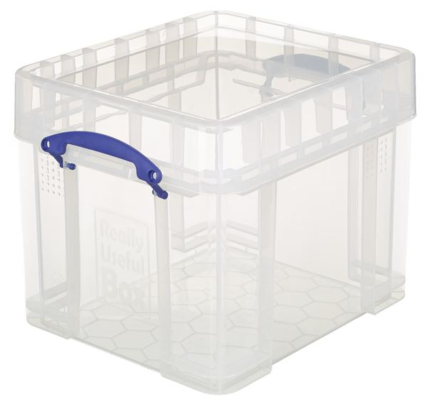 Really Useful Products Aufbewahrungsbox 35 l Transparent
