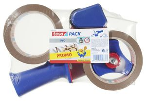 Tesa Sparpack Ultra Strong Packband + Abroller 50 mm  x  66 m Braun