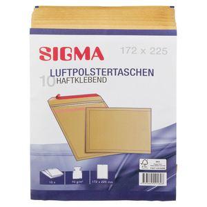 Sigma Luftpolstertaschen 172 x 225 Braun 172 mm  x  225 mm - 10 Stück