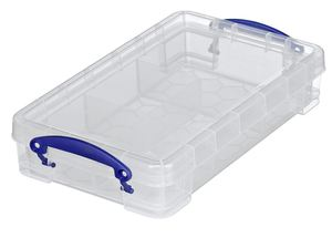 Really Useful Products Aufbewahrungsbox 2,5 l + Divider Transparent
