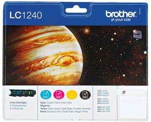 Brother Tintenpatrone LC 1240 Multipack Cyan, Gelb, Magenta, Schwarz