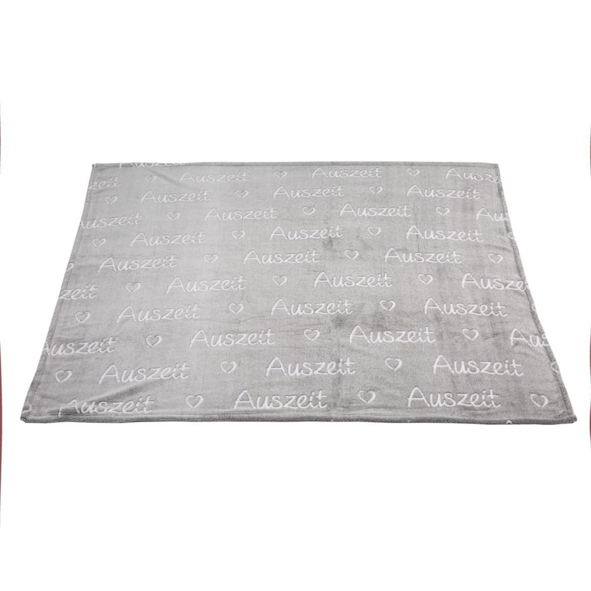 Bild 1 von Kuscheldecke, Auszeit, 160 x 130 cm, grau