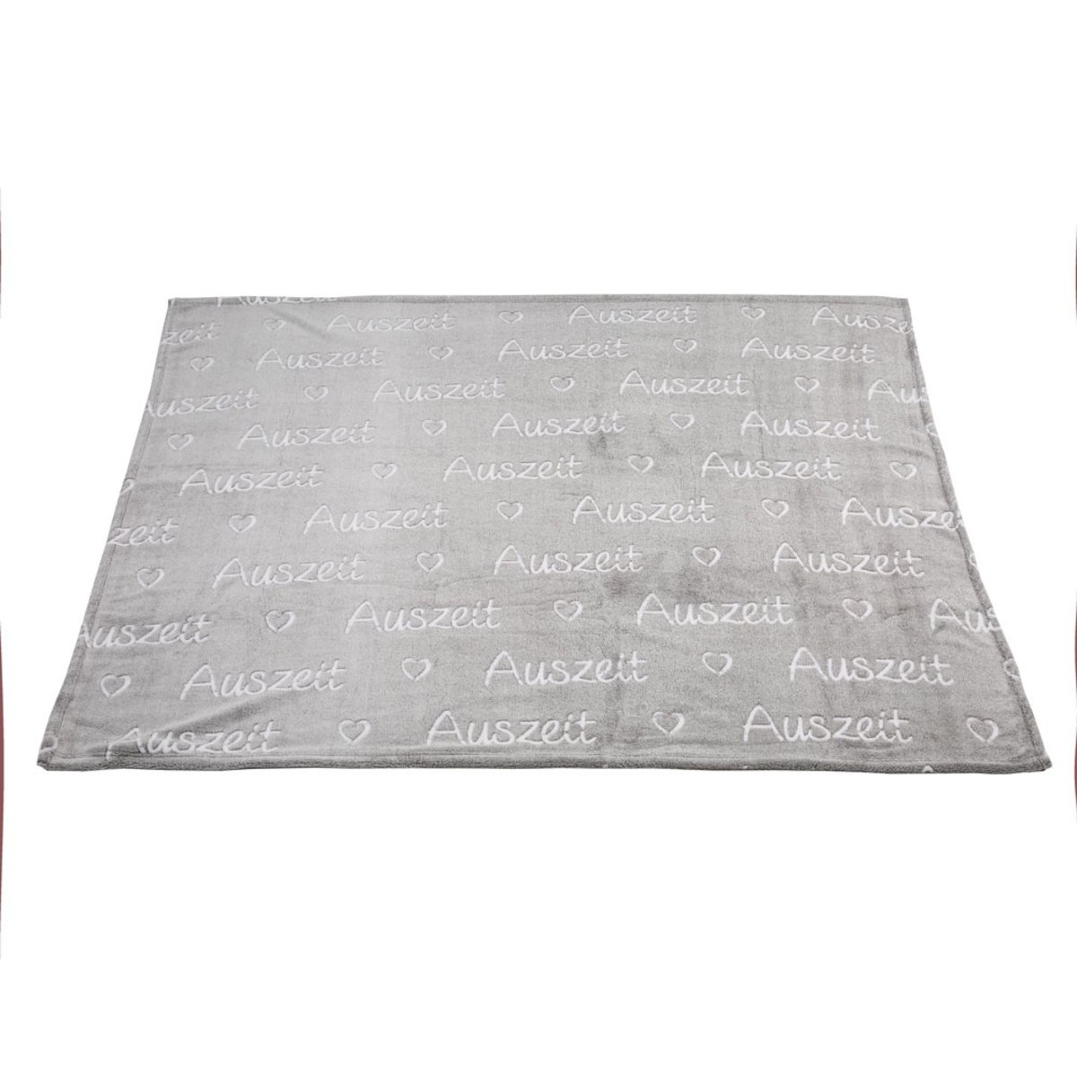 Bild 2 von Kuscheldecke, Auszeit, 160 x 130 cm, grau