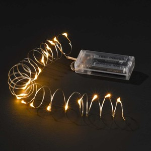 Micro-Lichterkette 20 LEDs 2,25 m silber
