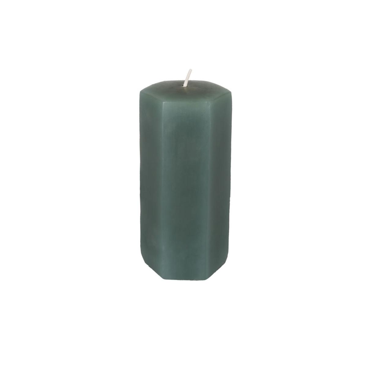 Bild 4 von Kerze, Hexagon, grün, 5,5 x 11,5 cm, S