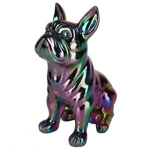 Dekofigur, Bulldogge, Kunstharz, 21,5 cm