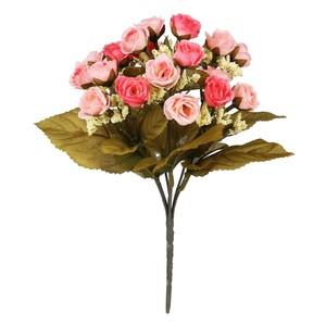 Rosenstrauß Stoffblumen rosa