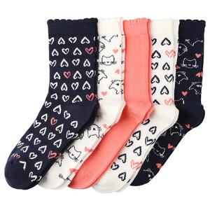 5 Paar Mädchen Socken im Set