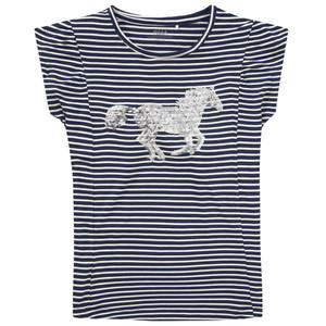 Mädchen T-Shirt mit Pailletten