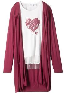 Langarmshirt + Shirtjacke (2-tlg.)