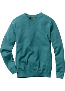 Feinstrick V-Pullover