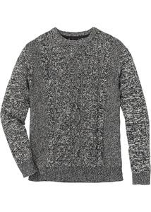 Pullover mit Zopfmuster Regular Fit
