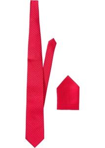 Gepunktete Krawatte + Einstecktuch (2-tlg.)