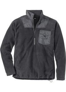 Fleece-Sweatshirt mit Reißverschluss Regular Fit