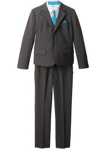 Nadelstreifenanzug + Hemd + Krawatte (4-tlg.)