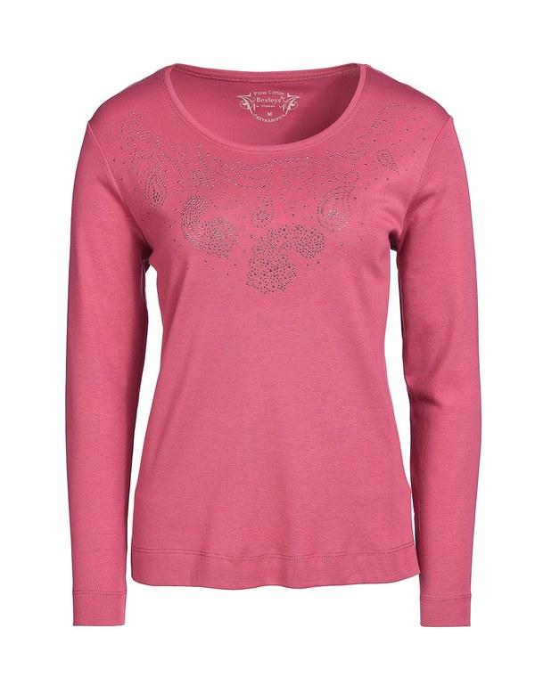 Bexleys woman - Shirt mit Steinchenverzierung
