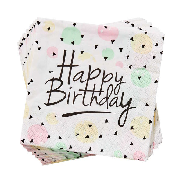 Papierserviette Happy Birthday