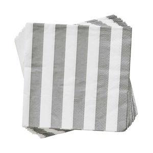 Papierserviette Streifen