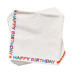 Papierserviette Happy Birthday Bordüre