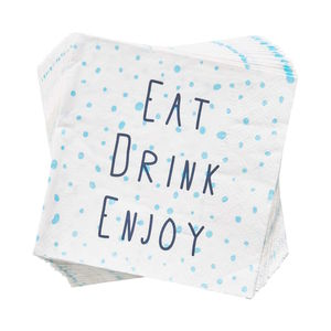 Papierserviette Eat Drink Enjoy
